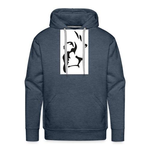 Lion-GINGER-page-001 - Sweat-shirt à capuche Premium pour hommes