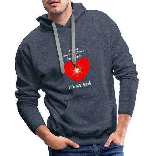 Coeur brillant ...amoureux ou inspiré FS - Sweat-shirt à capuche Premium pour hommes