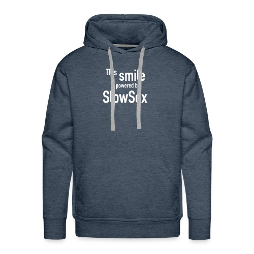 The smile is powered by SlowSex - Männer Premium Hoodie
