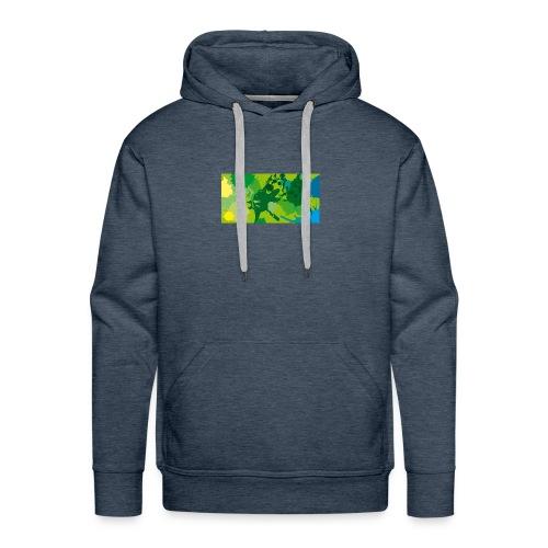 Verde - Sudadera con capucha premium para hombre