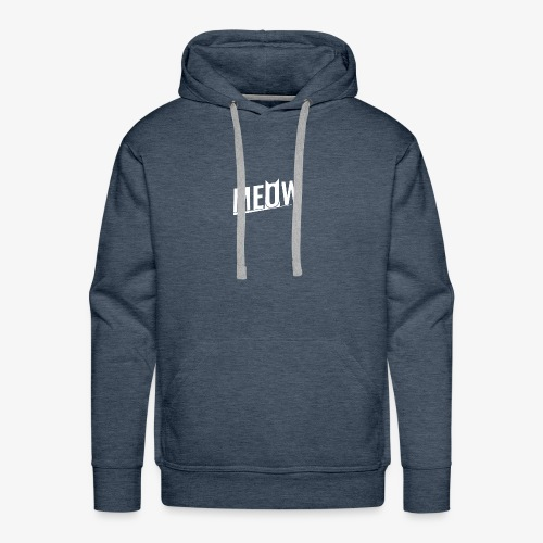 Meow White - Bluza męska Premium z kapturem