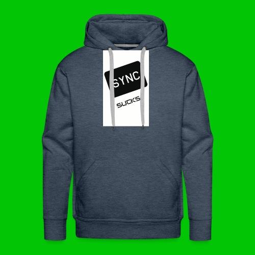 t-shirt-DIETRO_SYNK_SUCKS-jpg - Felpa con cappuccio premium da uomo