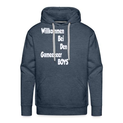 Begruessung Weiß - Männer Premium Hoodie