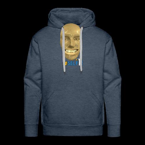 Gold Gesicht mit Zahndiamant - Männer Premium Hoodie