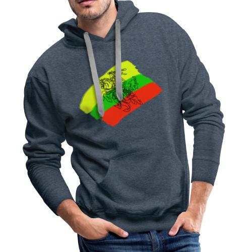 Lithuanian flag with rider - Men's Premium Hoodie