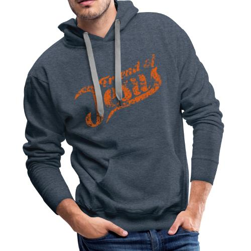 Friend of Jesus orange - Männer Premium Hoodie