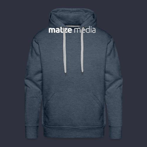 matze media White - Männer Premium Hoodie