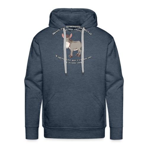 HI HAN by LOL+LOL=MDR - Sweat-shirt à capuche Premium pour hommes
