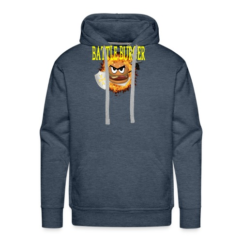 Battle_Burger - Sudadera con capucha premium para hombre