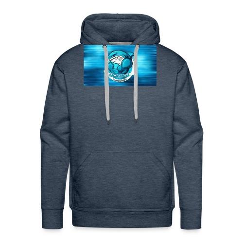 Shark_logo - Felpa con cappuccio premium da uomo