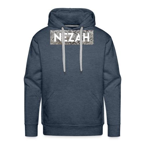 Nezah Snake Skin Box Logo - Men's Premium Hoodie