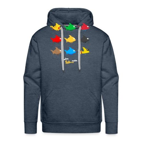 Swim! Yellow! Swim! - Mannen Premium hoodie