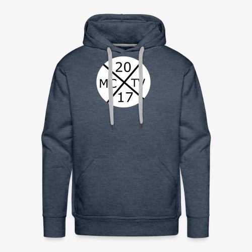Weißes Runde McggNicolaTv Logo - Männer Premium Hoodie