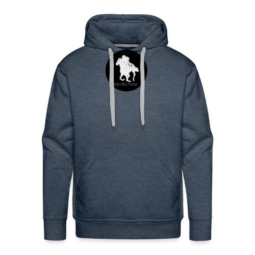 logo_intothehorse - Felpa con cappuccio premium da uomo