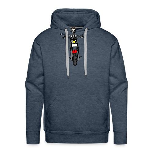 calavera moto - Sudadera con capucha premium para hombre