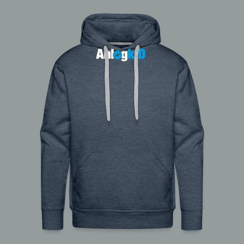 Anlogkid_Logo_Blau - Männer Premium Hoodie