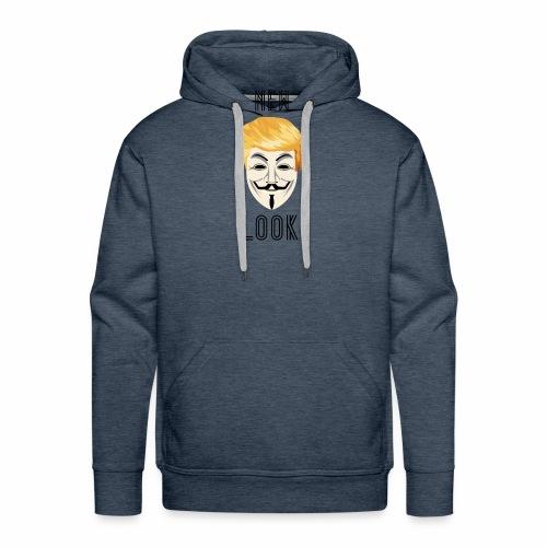 New Look Transparent /Anonymous Trump - Felpa con cappuccio premium da uomo