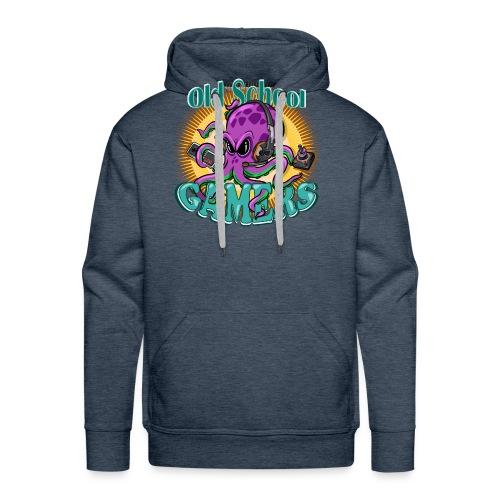 Old School Octopus Gamers - Sudadera con capucha premium para hombre