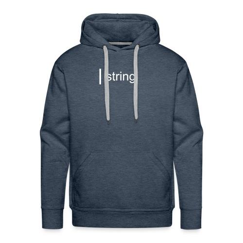 string Text - Men's Premium Hoodie