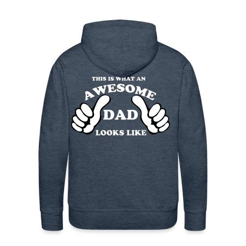 Awesome Dad 1 white - Men's Premium Hoodie