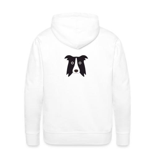 border bianco - Felpa con cappuccio premium da uomo