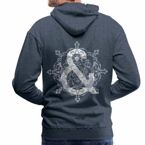 Escudo dark grey & ... - Sudadera con capucha premium para hombre