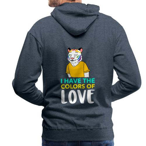 Tigre Arcoíris | Orgullo Pride LGTBI - Sudadera con capucha premium para hombre