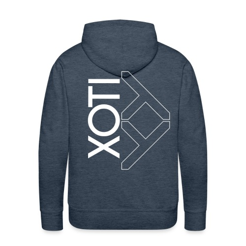 XOTI Deriver White - Sweat-shirt à capuche Premium pour hommes