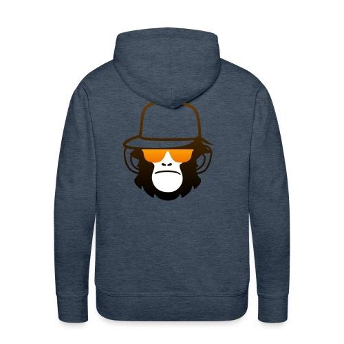 Aap Met Bril En Cap - Mannen Premium hoodie