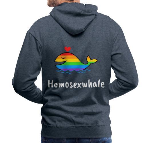 Ballenita Orgullo Gay | LGTBI Arco Iris - Sudadera con capucha premium para hombre