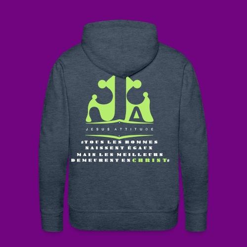 tous les hommes naissent égaux... - Sweat-shirt à capuche Premium pour hommes