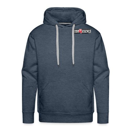 logo ski4race 2 - Sweat-shirt à capuche Premium pour hommes
