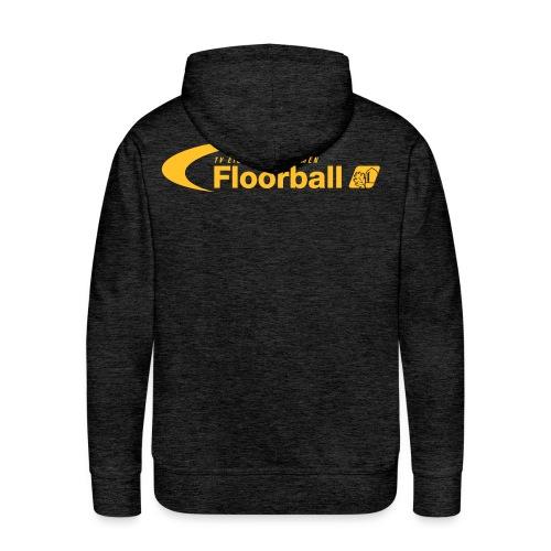 Eiche Floorball Logo einfarbig ohne Eichelrillen - Männer Premium Hoodie