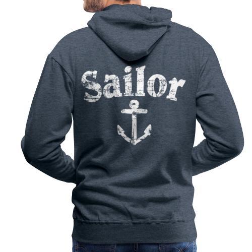 Sailor Anker Segeln Segel Segler (Vintage/Weiß) - Männer Premium Hoodie