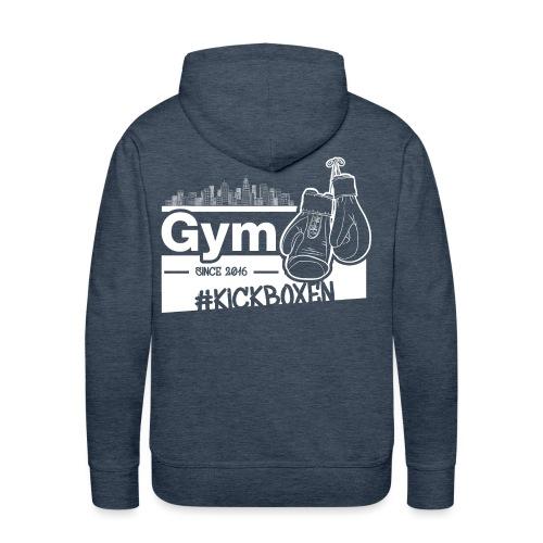 Gym Druckfarbe weiss - Männer Premium Hoodie