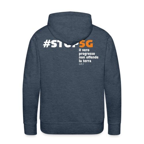 Linea Stop5G con frase - Felpa con cappuccio premium da uomo