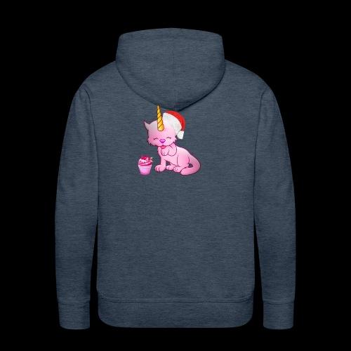 Licorne père noël - Sweat-shirt à capuche Premium pour hommes