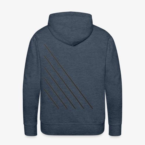 STRIPED - Herre Premium hættetrøje
