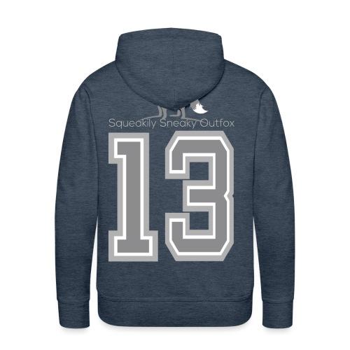Grey sneaky fox - Herre Premium hættetrøje