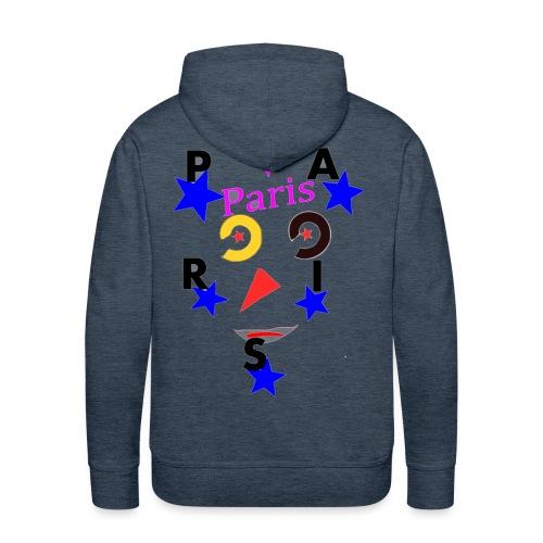 Paris avec etoile - Sweat-shirt à capuche Premium pour hommes