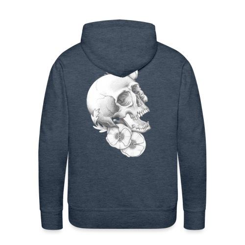 poppy skull - Männer Premium Hoodie