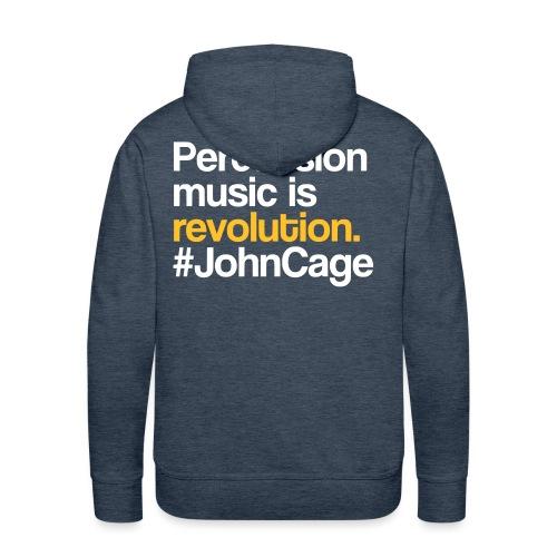 John Cage - Percussion Music (Schlagzeug Motiv) - Männer Premium Hoodie