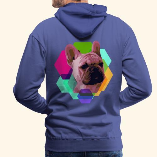 French Bulldog head - Sweat-shirt à capuche Premium pour hommes
