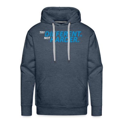 try different weiß blau - Männer Premium Hoodie