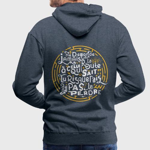Aimer vivre et se perdre - Sweat-shirt à capuche Premium pour hommes