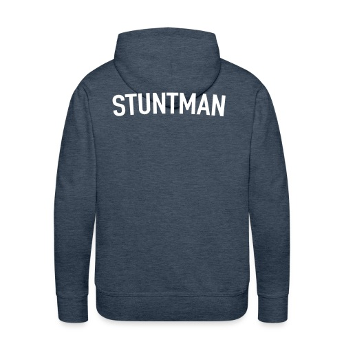 Stuntman Blanco - Sudadera con capucha premium para hombre