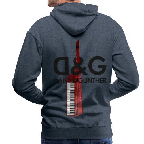 Met keytar-logo - Mannen Premium hoodie