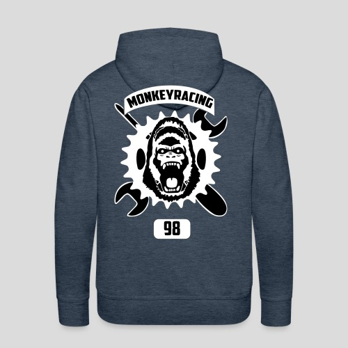 Monkey Racing98 Emblem - Männer Premium Hoodie