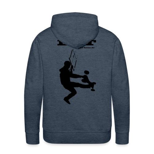 logo dos - Sweat-shirt à capuche Premium pour hommes