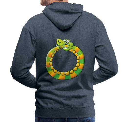 Crazy Snake Biting its own Tail - Men's Premium Hoodie